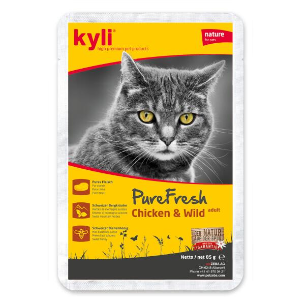 Kyli PureFresh Chicken & Wild Tray (12x85gr)