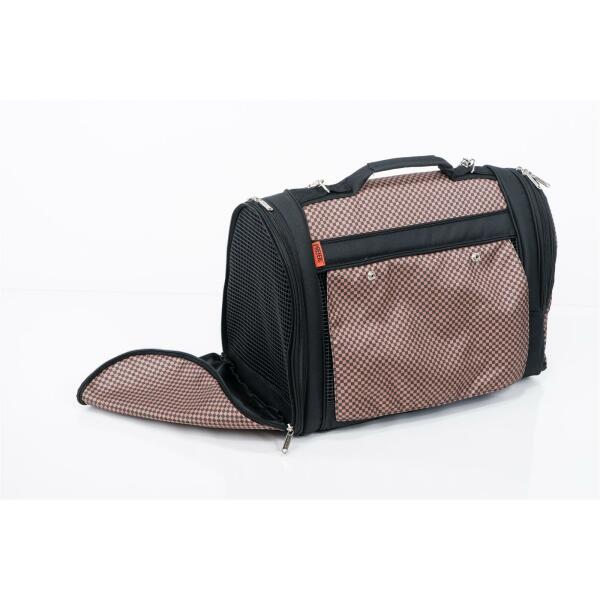 Hideaway Backpack brown checkered