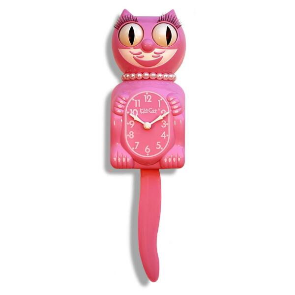 Honeysuckle Pink Lady Kit-Cat Clock