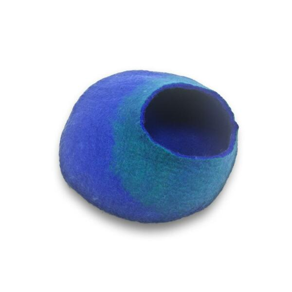 Cat Cave aus Filz (Blue and Turquoise)